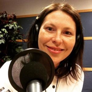 HER OG NÅ: Jeg satt i studio i Bergen, mens programleder Anniken Sande intervjuet fra Trondheim.