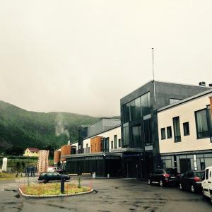FLETT NYTT: Nordlandssykehuset Vesterålen åpnet i fjor. Fasilitetene er det ingenting å klage på, og jeg ble tatt veldig godt i mot. Luksus å få de siste kurene bare noen minutter hjemmefra.